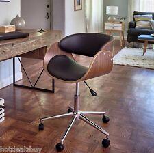 Retro Office Desk Chair Adjustable Seat Vintage Guest Swivel Mid Century Modern