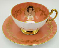 Commemorative Visit 1958 HRH Princess Margaret Cameo Aynsley Tea Cup and Saucer