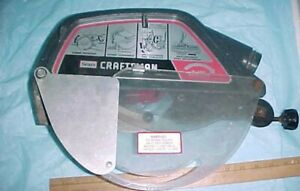 "1970s 12 "" RADIAL ARM SAW BLADE GUARD SEARS CRAFTSMAN w TRANSPARENT BLADE SHIELD"