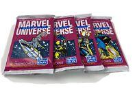 1992 MARVEL UNIVERSE SERIES 3 HULK-SPIDERMAN LOT OF 4 PACKS - HOLOGRAMS Mixed In