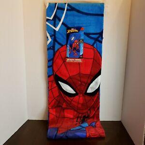 "New Spider-Man Beach Towel28"" x 58"" 100% Cotton Marvel Jay Franco Ships Free!"
