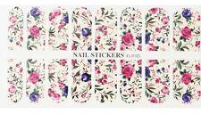 Nail Patch WATER TRANSFER Stickers(105)-Nail Art Decorazione Unghie-Fiori Colora