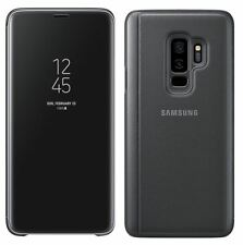 NEW GENUINE SAMSUNG GALAXY S9 CLEAR VIEW STANDING COVER FLIP CASE WALLET BLACK
