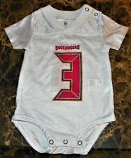 NEW Tampa Bay Buccaneers ~ #3 Winston 2-Sided JERSEY Bodysuit CREEPER ~ Sz NB 3M
