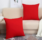 TangDepot Set of 2 Handmade Decorative Solid 100% Cotton Canvas Throw Pillow Cov