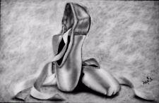 Geschenk idee Bleistiftzeichnung Ballett 100%Kunst Einmalige Wahnzinschön