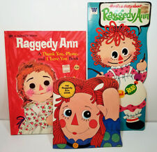 RAGGEDY ANN BOOKS LOT Set of 3 VTG 1972 Golden Shape THANK YOU PLEASE Story ANDY