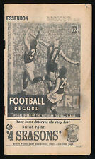 1967 VFL Football Record Essendon v St Kilda April 22 Bombers Saints