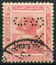 """Egypt 1921-2 SG#90, 5m Pink, """"TC&S"""" Used #D90690"""