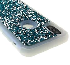 iPhone X / XS / 10S - Hybrid HARD & SOFT Impact Armor Case Diamond Bling Studs