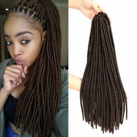 20'' Soft Straight Faux Locs Crochet Braids Dreadlocks Synthetic Hair Extensions
