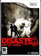 Disaster Day of Crisis NINTENDO WII NUOVO SIGILLATO EDIZIONE ITALIANA 1a stampa