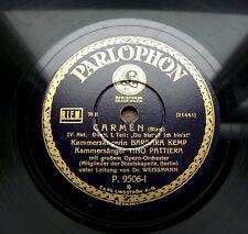 """A124/ TINO PATTIERA-BARBARA KEMP- Ach, wie so herrlich """"Carmen"""" Bizet-Schellack"""
