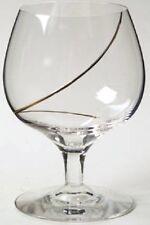 Kosta Boda, Line Gold, Cognac Glass (Anna Ehrner design) Gold Swirled Line
