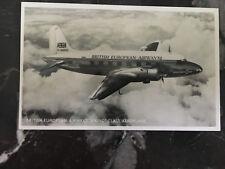 Mint England Rppc postcard Bea British European Airways Viking Airplane Flying