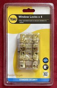 Yale Economy Window Lock Electro Brass Finish V-8K118-4-EB - Pack of 4