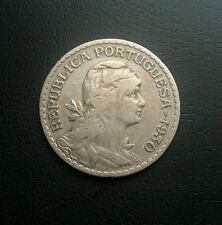 Portugal 1930 1 escudo coin. Moneda portuguesa