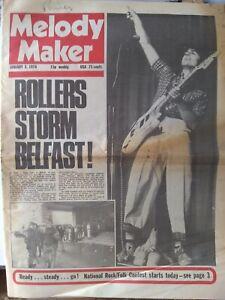 Melody Maker Jan 3rd '76 - Bay City Rollers Mick Ronson The Band Bad Company