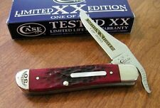 CASE XX New Limited Series XXX Brick Red Jigged Bone 1 Bld Russlock Knife/Knives