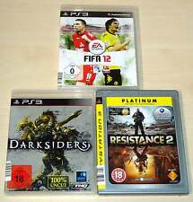 3 PLAYSTATION 3 PS3 SPIELE SAMMLUNG FIFA 12 DARKSIDERS RESISTANCE 2 SHOOTER