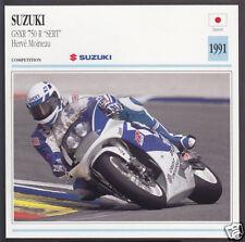"""1991 Suzuki GSXR 750cc R """"SERT"""" GSX-R Herve Moineau Race Motorcycle Photo Card"""