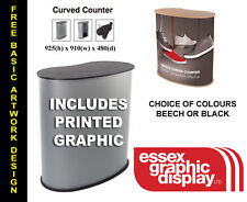 QUALITY FAST INSTALL PORTABLE POP UP EXHIBITIONCOUNTER PODIUM STAND & GRAPHIC