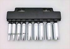 """9 PC 3/8"""" Drive 6 PT Socket Set Deep SAE - H31-002B"""