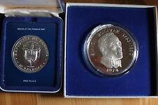 10 und 20 Balboas (1978,1974) Silbermünzen, Panama, 925er Sterlingsilber PP
