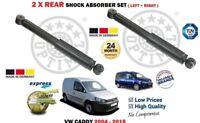 Per VW Volkswagen Caddy Di + Furgone 2004-2015 Nuovo 2 X Ammortizzatore Post.