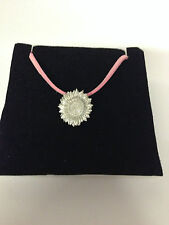 VAN GOGH SUNFLOWER REFVGSPPIN Pewter PENDENT ON A PINK CORD Necklace Handmade