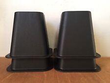 "Set of 4 Bed Furniture Risers Black 6"" Plastic Black College Dorm Room Square"