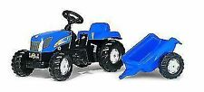 Rolly Toys - Holland T 7040 Tractor Ride on With Matching Trailer Age 2 1/2