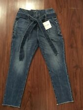 Dl 1961 Susie Paper Bag Tapered Straight Jeans Sz 26 (nwt)