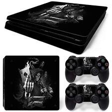 Sony PS4 Playstation 4 Slim Skin Aufkleber Schutzfolie Set - Game Over Motiv