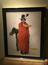 "NORMAN ROCKWELL ""SEE AMERICA FIRST"" SIGNED LITHOGRAPH Native American 125/200"