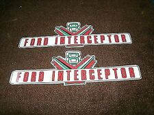 1958 FORD POLICE INTERCEPTOR VALVE COVER DECALS PAIR