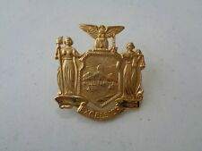 Vintage Brass Excelsior Police? Military? Hat Badge Uniform Pin Screw Back <>
