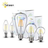 E27 E14 LED Lights Filament COB Edison Bulb Vintage Glass Flame Lamps 110V/220V