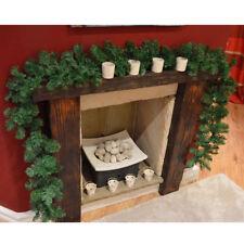 270cm (9ft) x 25cm Christmas Pine Garland Fireplace XMAS Green Tree Decorations