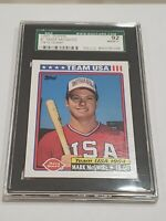 1992 Topps Dairy Queen Team USA Mark McGwire VERY RARE SGC 92 = PSA 8.5