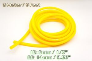 3 METRE YELLOW SILICONE VACUUM HOSE AIR ENGINE BAY DRESS UP 8MM FIT ALFA FIAT