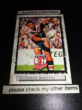 2000 SELECT NRL CARD NO.106 SIMON BONETTI SYDNEY ROOSTERS