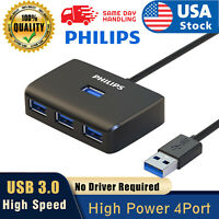 Philips USB 3.0 Multi HUB 4-Port Splitter Expansion Cable Adapter High Speed PC