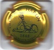 Capsule de champagne Harlin N°9 lettre pleine or et noir