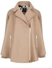 Ted Baker Prata Zip Front Wool Cashmere Cape Taupe  ~ Size 3 Uk 12 RRP£248.99