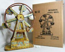 (Lot #1456) Vintage Tin Windup Toy Chein Hercules Ferris Wheel with Box
