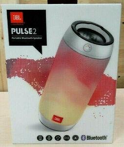 JBL RARE SILVER Pulse 2 Portable Speaker - Wireless - Silver in Original Box