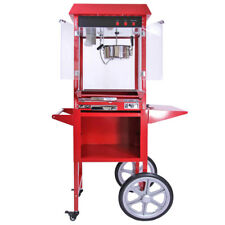 KuKoo Kit de Máquinas para Palomitas de Maíz y Algodón de Azúcar - Roja/Rosa