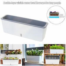 Self-Watering Planter Pots Long Strip Double Layer Flower Pot for Home Garden