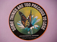 1990s STICKER ~ ENVIRONMENTAL DEFENSE Org ~ Some Things Are Too Precious To Lose